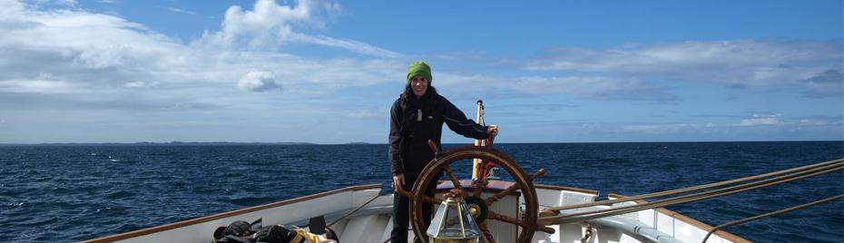 Sailing the Bessie Ellen around Cornwall