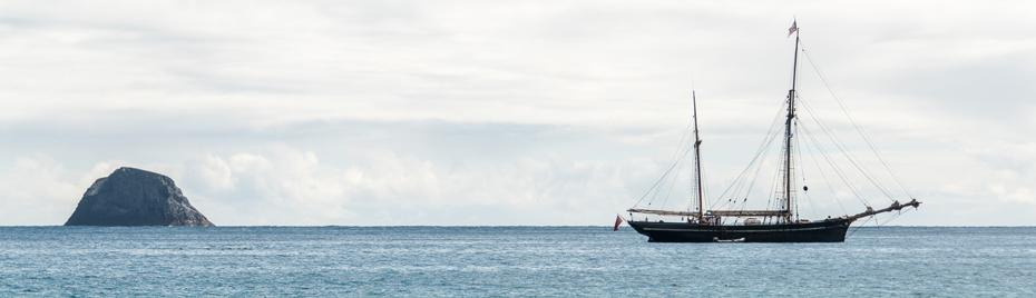Bessie Ellen sailing in the Outer Hebrides
