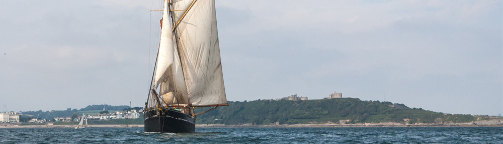 Bessie Ellen sailing out of St Mawes