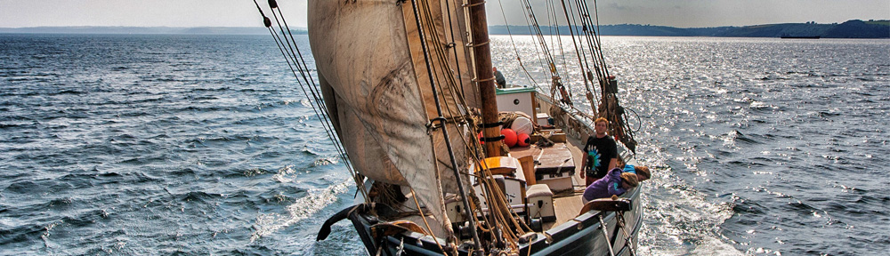 View down the mast