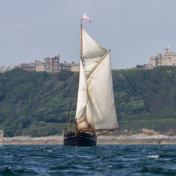 Bessie Ellen off Pendennis Point