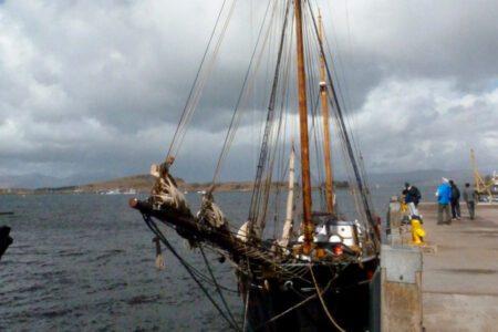 Bessie moored up