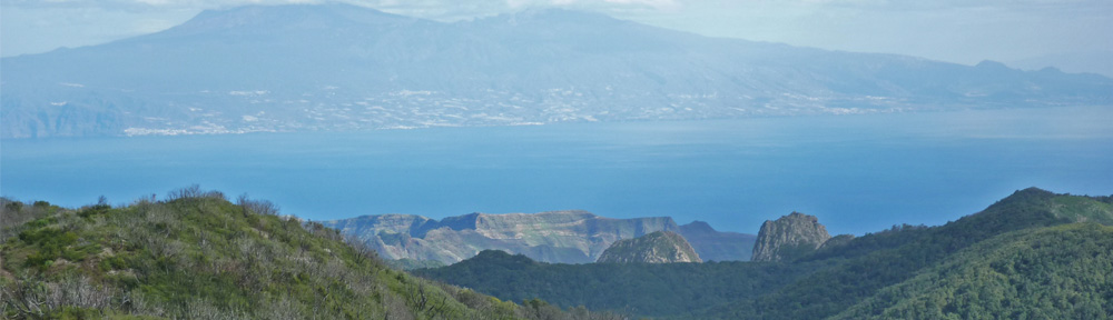View of the Canary Islands across each other