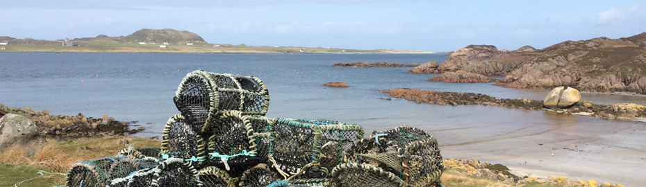 Crab pots on the Scottish Coast