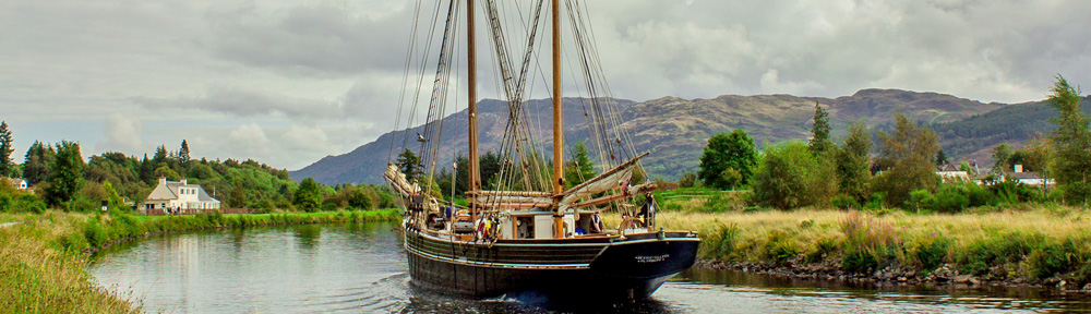 Bessie Ellen sailing through Scotland