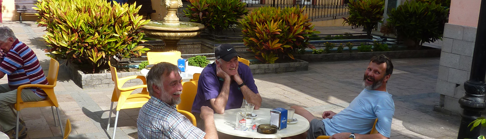 Lunch in a Spanish square on the Canaries