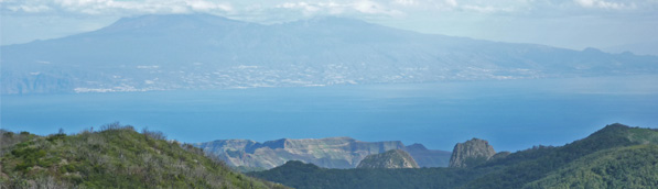 View of the Canary islands