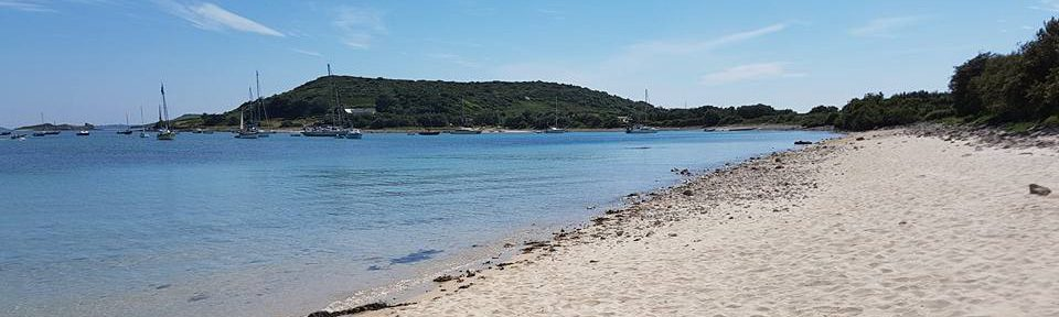 Bryher beach view for Johanna Scilly voyages