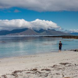 Looking over to Rum from Muck